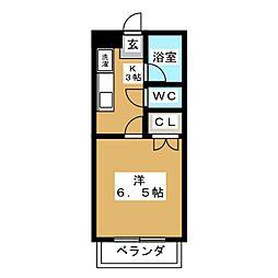 コーポラス清京[3階]の間取り