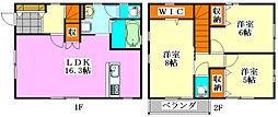 [一戸建] 千葉県船橋市旭町3丁目 の賃貸【/】の間取り