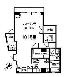 OAKハウス[101号室]の間取り