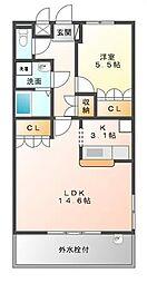 ストラーダII[2階]の間取り