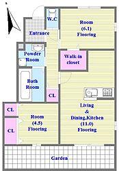 明石市王子2丁目(新築)[102号室]の間取り