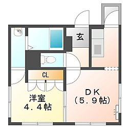 メゾン・ド・あさひ[4階]の間取り