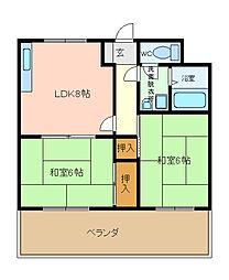 プレステージ小阪[205号室]の間取り