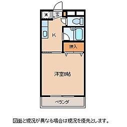 長野県諏訪市大字湖南田辺の賃貸マンションの間取り