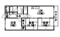 グランビア京都[105号室]の間取り