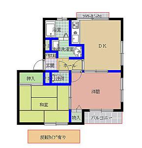 間取り,2DK,面積45.19m2,賃料4.8万円,JR常磐線 羽鳥駅 徒歩10分,,茨城県小美玉市羽鳥