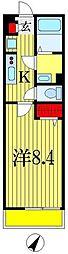 リブリ・カーサシエテ 1階1Kの間取り