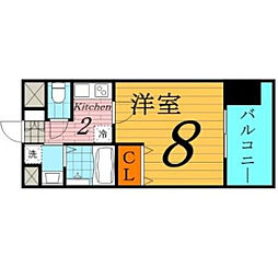 W.O.B.京橋[4階]の間取り