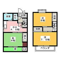 [テラスハウス] 岐阜県羽島市小熊町5丁目 の賃貸【岐阜県 / 羽島市】の間取り