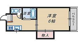 サンハイム蛍池[3階]の間取り