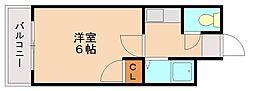 福岡県福岡市南区井尻5丁目の賃貸マンションの間取り