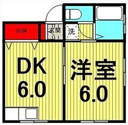 山一田端新町3丁目ビル[1階]の間取り