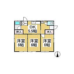 [一戸建] 長野県長野市上松4丁目 の賃貸【長野県 / 長野市】の間取り