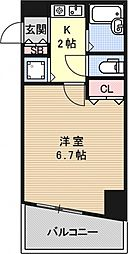プレサンス京都駅前[401号室号室]の間取り