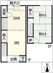 [タウンハウス] 愛知県岩倉市下本町西沼 の賃貸【/】の間取り