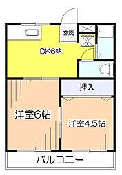 栄町グリーンハイツ[2階]の間取り