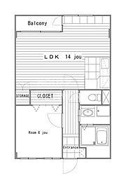 京福修学院マンション[504号室号室]の間取り