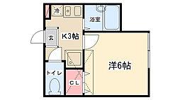 リバティ文京[A203号室]の間取り