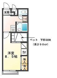 兵庫県赤穂市城西町の賃貸アパートの間取り