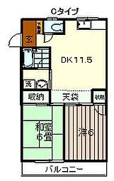 グリーンハイツ横田[2階]の間取り