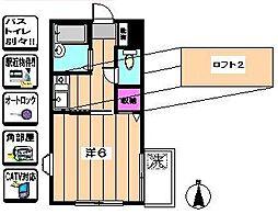 HASSLER[2階]の間取り