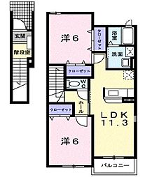 セントラルビレッジA棟[2階]の間取り