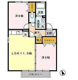 プレミール2[2階]の間取り