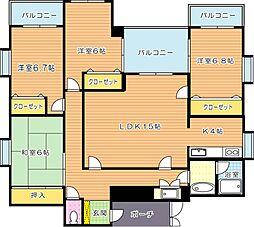 萩原KKGビル[4階]の間取り