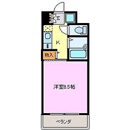 ロータリーM長田東[303号室]の間取り
