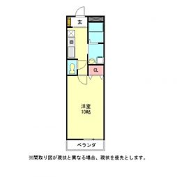 愛知県一宮市神山2丁目の賃貸アパートの間取り
