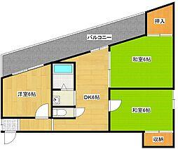 植田マンション[4階]の間取り