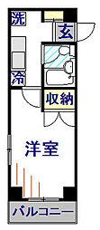 神奈川県相模原市南区麻溝台8丁目の賃貸マンションの間取り