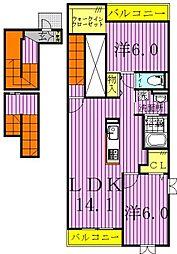 ジュリアフォレスト[3階]の間取り