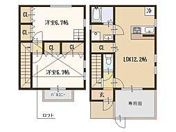 大阪府和泉市和気町2丁目の賃貸アパートの間取り