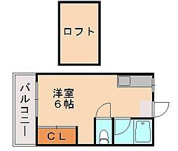 福岡県福岡市城南区長尾5丁目の賃貸アパートの間取り