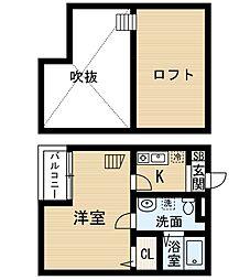 ビルーチェ並木B (ビルーチェナミキビー)[1階]の間取り