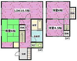 [一戸建] 広島県安芸郡熊野町呉地5丁目 の賃貸【/】の間取り