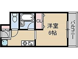 エスペオーラ近藤[3階]の間取り