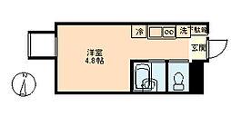 東京都大田区多摩川1丁目の賃貸アパートの間取り