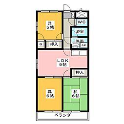 GRACY TAKAO[2階]の間取り