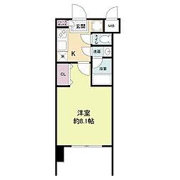 レジディア新大阪[1214号室]の間取り