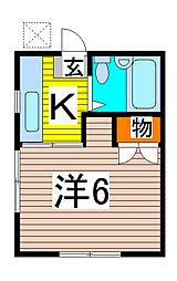 コ−ポシンカイ[205号室]の間取り
