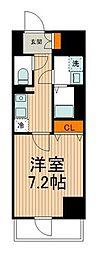東武伊勢崎線 東向島駅 徒歩2分の賃貸マンション 7階1Kの間取り