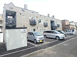 北海道札幌市東区北三十一条東17丁目の賃貸アパートの外観