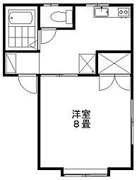 新潟県新潟市東区中野山4丁目の賃貸アパートの間取り