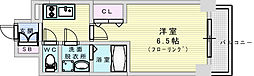 おおさか東線 JR淡路駅 徒歩7分の賃貸マンション 4階1Kの間取り