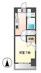愛知県名古屋市千種区仲田2の賃貸マンションの間取り