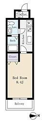 ドミール川崎(ネット込、広々洋室)[3階]の間取り