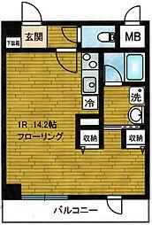 ヴィラサンローズ[4階]の間取り