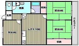 パークサイド青葉[2階]の間取り